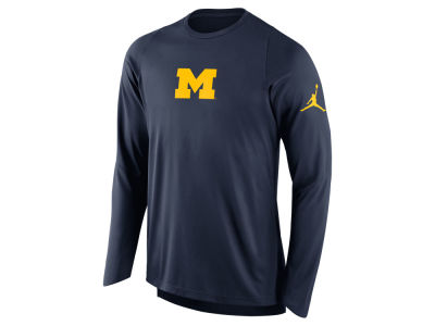 Michigan Wolverines Nike NCAA Men's Elite Shooter Long Sleeve T-Shirt
