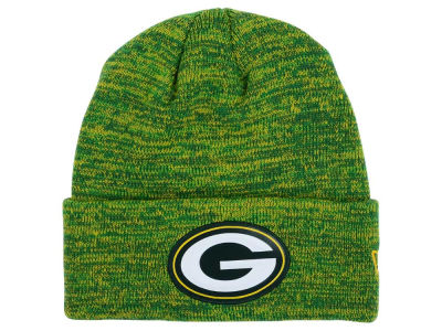 Green Bay Packers New Era NFL Beveled Team Knit