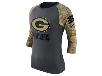 Green Bay Packers Nike NFL Women's Salute to Service Raglan T-Shirt
