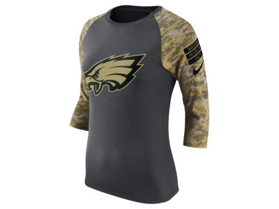 Philadelphia Eagles Nike NFL Women's Salute to Service Raglan T-Shirt