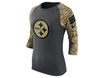 Pittsburgh Steelers Nike NFL Women's Salute to Service Raglan T-Shirt