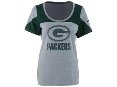 Green Bay Packers Nike NFL Women's Champ Drive 2.0 Tri-blend T-Shirt
