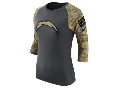 Los Angeles Chargers Nike NFL Women's Salute to Service Raglan T-Shirt