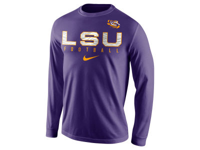 LSU Tigers Nike NCAA Men's Cotton Practice Long Sleeve T-Shirt
