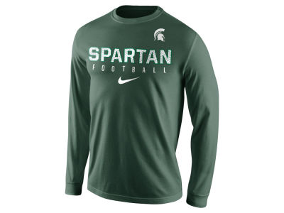 Michigan State Spartans Nike NCAA Men's Cotton Practice Long Sleeve T-Shirt