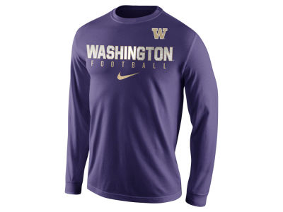 Washington Huskies Nike NCAA Men's Cotton Practice Long Sleeve T-Shirt