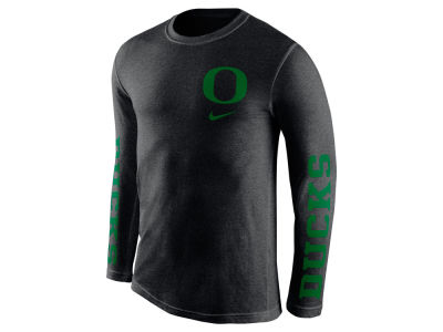Oregon Ducks Nike NCAA Men's Triblend Fresh Long Sleeve T-Shirt