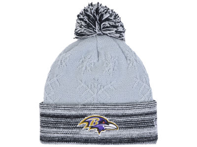 Baltimore Ravens New Era NFL Women's Snow Crown Redux Knit