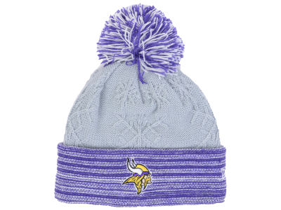 Minnesota Vikings New Era NFL Women's Snow Crown Redux Knit