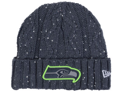 Seattle Seahawks New Era NFL Women's Frosted Cable Knit