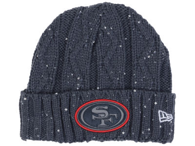 San Francisco 49ers New Era NFL Women's Frosted Cable Knit