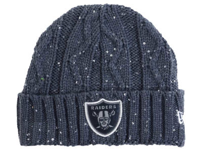 Oakland Raiders New Era NFL Women's Frosted Cable Knit