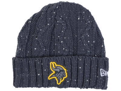 Minnesota Vikings New Era NFL Women's Frosted Cable Knit