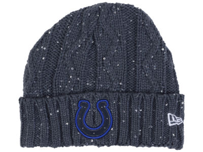 Indianapolis Colts New Era NFL Women's Frosted Cable Knit