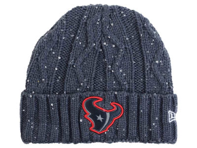 Houston Texans New Era NFL Women's Frosted Cable Knit