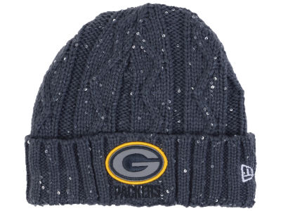Green Bay Packers New Era NFL Women's Frosted Cable Knit