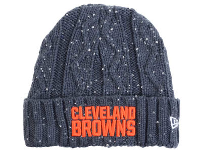 Cleveland Browns New Era NFL Women's Frosted Cable Knit