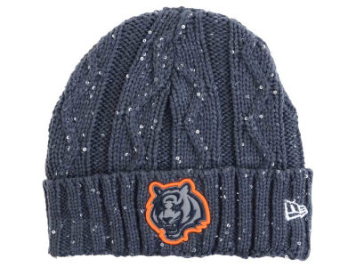 Cincinnati Bengals New Era NFL Women's Frosted Cable Knit