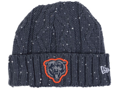 Chicago Bears New Era NFL Women's Frosted Cable Knit