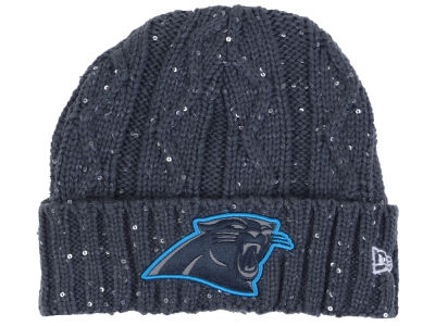 Carolina Panthers New Era NFL Women's Frosted Cable Knit