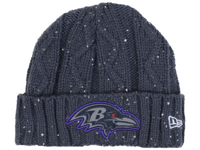 Baltimore Ravens New Era NFL Women's Frosted Cable Knit