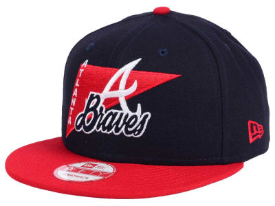 Atlanta Braves New Era MLB Logo Stacker 9FIFTY Snapback Cap