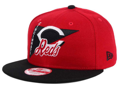 Cincinnati Reds New Era MLB Logo Stacker 9FIFTY Snapback Cap