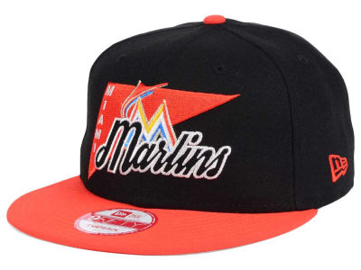 Miami Marlins New Era MLB Logo Stacker 9FIFTY Snapback Cap