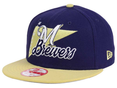 Milwaukee Brewers New Era MLB Logo Stacker 9FIFTY Snapback Cap