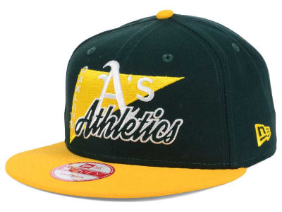 Oakland Athletics New Era MLB Logo Stacker 9FIFTY Snapback Cap
