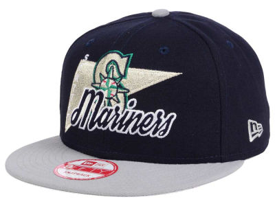 Seattle Mariners New Era MLB Logo Stacker 9FIFTY Snapback Cap