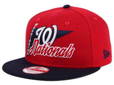 Washington Nationals New Era MLB Logo Stacker 9FIFTY Snapback Cap