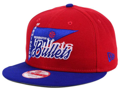 Washington Bullets New Era NBA HWC Logo Stacker 9FIFTY Snapback Cap