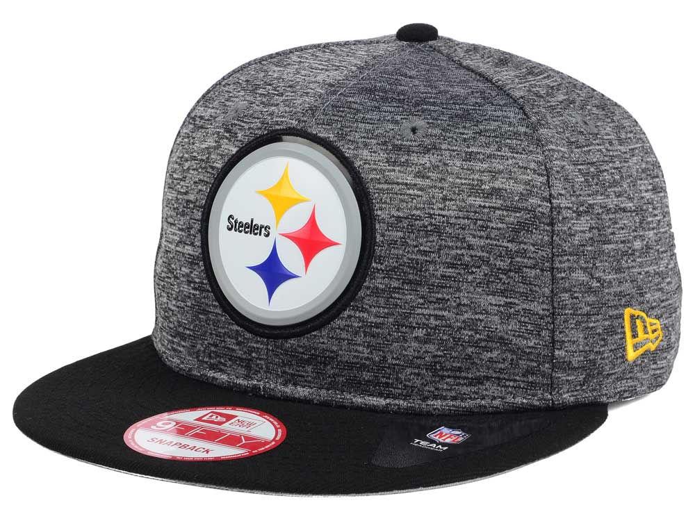 meet 4013a ca63d Pittsburgh Steelers New Era NFL Shadow Bevel 9FIFTY Snapback Cap   lids.com