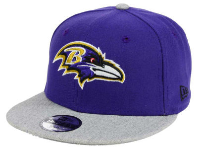 Baltimore Ravens New Era NFL Youth Heather 9FIFTY Snapback Cap