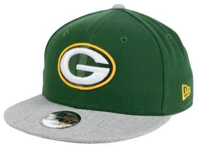 Green Bay Packers New Era NFL Youth Heather 9FIFTY Snapback Cap
