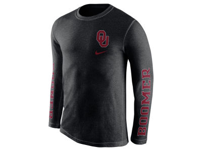 Oklahoma Sooners Nike NCAA Men's Triblend Fresh Long Sleeve T-Shirt