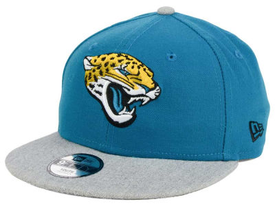 Jacksonville Jaguars New Era NFL Youth Heather 9FIFTY Snapback Cap