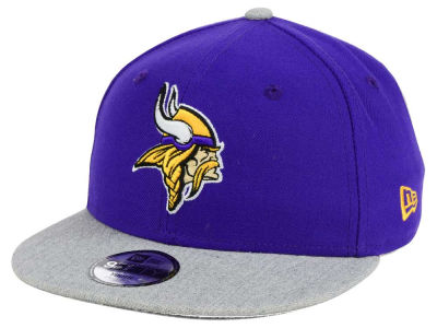 Minnesota Vikings New Era NFL Youth Heather 9FIFTY Snapback Cap