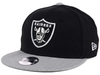 Oakland Raiders New Era NFL Youth Heather 9FIFTY Snapback Cap