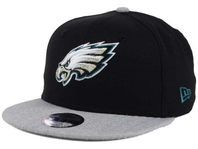 Philadelphia Eagles New Era NFL Youth Heather 9FIFTY Snapback Cap