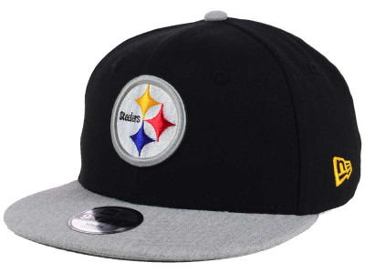Pittsburgh Steelers New Era NFL Youth Heather 9FIFTY Snapback Cap