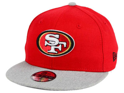 San Francisco 49ers New Era NFL Youth Heather 9FIFTY Snapback Cap