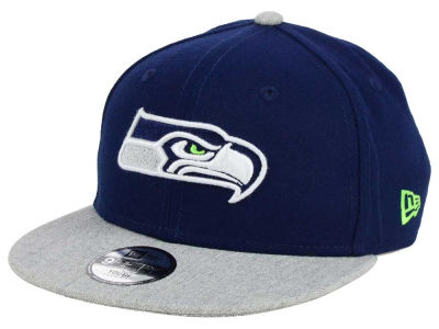 Seattle Seahawks New Era NFL Youth Heather 9FIFTY Snapback Cap