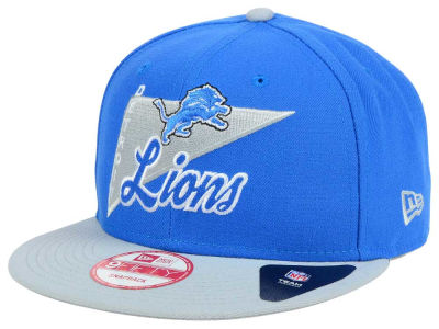 Detroit Lions New Era NFL Logo Stacker 9FIFTY Snapback Cap