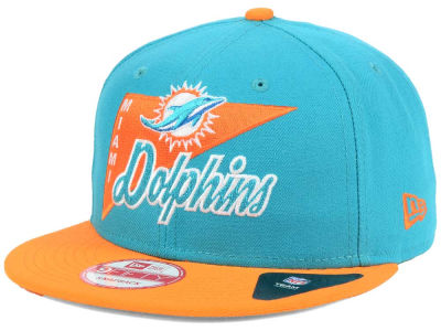 Miami Dolphins New Era NFL Logo Stacker 9FIFTY Snapback Cap