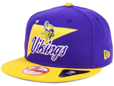 Minnesota Vikings New Era NFL Logo Stacker 9FIFTY Snapback Cap
