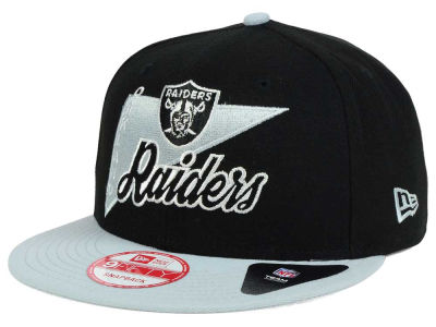 Oakland Raiders New Era NFL Logo Stacker 9FIFTY Snapback Cap