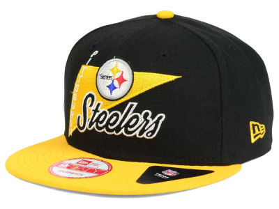 Pittsburgh Steelers New Era NFL Logo Stacker 9FIFTY Snapback Cap
