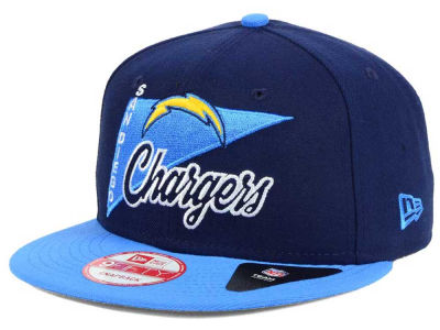 San Diego Chargers New Era NFL Logo Stacker 9FIFTY Snapback Cap